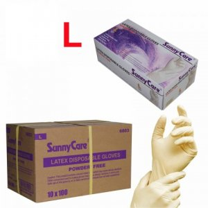 Latex Powder Free Gloves 100/box